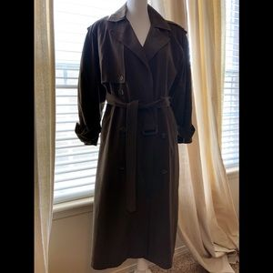 {PRESTON & YORK} - RICH BROWN LINED TRENCH COAT